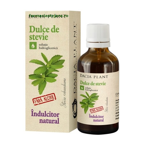 Dacia Plant Dulce de stevie indulcitor natural 50 ml